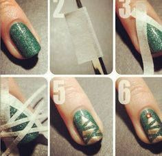 Christmas nails - DIY