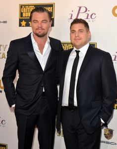 Leonardo DiCaprio and Jonah Hill at the Critics' Choice Awards.