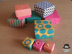 Mr WashiSan: Cajas de origami de papel decorado