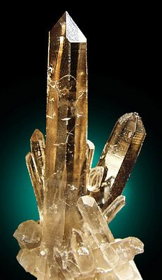 Quartz var. Smoky with phantom growth from Smoky Bear Claim, Lincoln County, New Mexico
