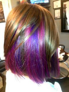 purple peekaboo highlights - Google Search