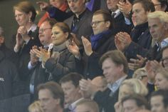 MYROYALS & HOLLYWOOD FASHİON - Crown Princess Victoria and  Prince Daniel watched  the FIFA World Cup 2014 group C qualifying football match Sweden vs Austria in Solna.