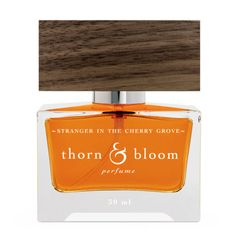 Thorn & Bloom Stranger in the Cherry Grove is a botanical perfume that smells like leather, smoke and charred wood.