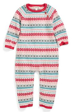 Tucker + Tate Fair Isle Cotton & Cashmere Romper (Baby Girls) available at #Nordstrom