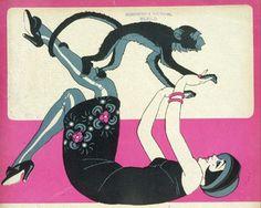 «Mujer y mono» 1925.