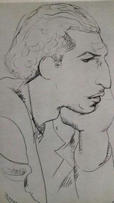 Tulio de lemos por lasar Segall portrait 1937 crayon