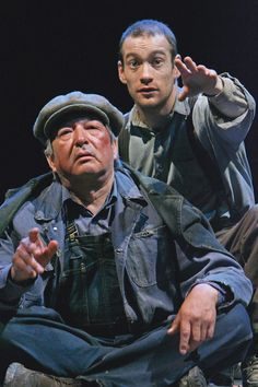 """'Of Mice and Men' -by John Steinbeck - Tom Patterson Theatre, Stratford, 2007: """"An American tragedy has shaken off any Depression-era dust to take its place among the triumphs of the 2007 Stratford Festival season.  Directed by Martha Henry and starring Graham Greene as a Lennie for the ages, John Steinbeck's Of Mice and Men opened to a standing ovation..."""" J. Reaney"""