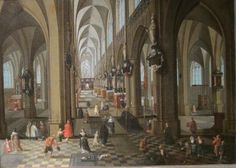 Interior of Antwerp Cathedral painted by Peeter Neeffs the Elder in 1651 - Indianapolis Museum of Art #Indy #Indianapolis #Indiana #IMA #artlovers