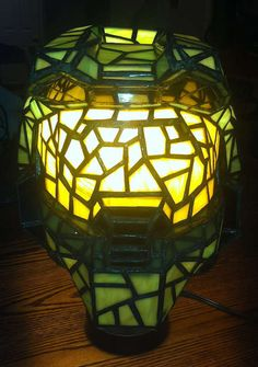 The #Halo Master Chief #Helmet #Lamp is Intricately Crafted trendhunter.com