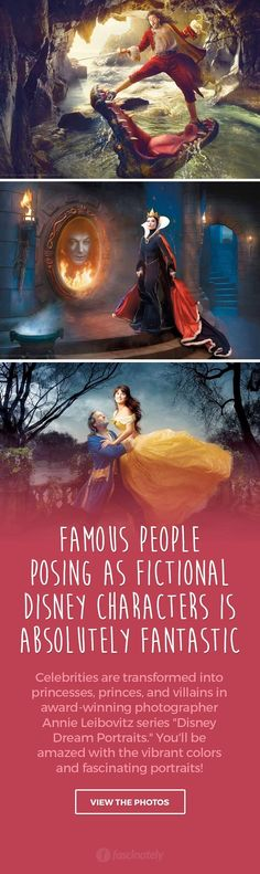 Famous People Posing as Fictional Disney Characters is Absolutely Fantastic
