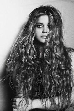 """Long wavy hair or """"mermaid hair"""""""