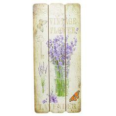Tablou Lavender din lemn 15x34.5 cm