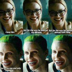 joker, suicide squad, and harley quinn image Harley And Joker Love, Joker And Harley Quinn, Harely Quinn And Joker, Joker Quotes, Movie Quotes, Vampire Quotes, Harly Quinn Quotes, Suiside Squad, Cartoon Disney