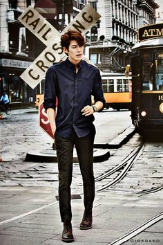 Kim Woo Bin for Giordano Fall 2014 Ad Campaign Kim Woo Bin, Korean Star, Korean Men, Asian Men, Asian Actors, Korean Actresses, Korean Actors, K Pop, Korean Fashion Men