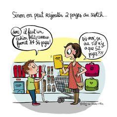 """Illustration par Crayon d'Humeur pour Charles & Alice : """"Prêts à vous prendre le chou devant la liste de fournitures scolaires ?"""""""