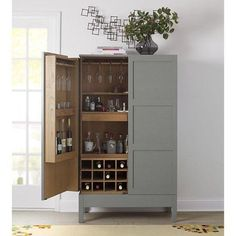 Victuals Grey Bar Cabinet by Russell Pinch for Crate & Barrel