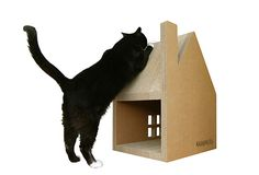 Krabhuis Cardboard Cat Playhouse From The Netherlands