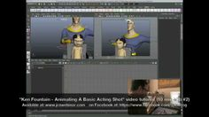 """Ken Fountain - Animating A Basic Acting Shot"" video tutorial (10 min clip #2) on Vimeo"