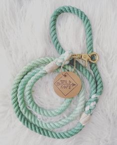 Dark Green to Mint Ombre Wildrope 100% Cotton Rope Leash