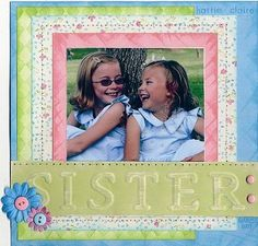 sister scrapbook-pages