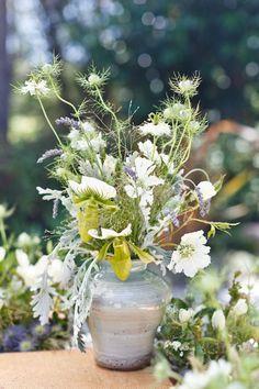 Katie Burley, Dark + Diamond Floral Design  Photography: Ellie M. Photography - ellie-photography.com  Read More: http://www.stylemepretty.com/2011/08/10/point-reyes-seashore-lodge-wedding-by-ellie-m-photography/