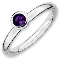0.24ct Stackable Low 4mm Round Amethyst Ring Band. Sizes 5-10 Available Jewelry Pot. $24.99. All Genuine Diamonds, Gemstones, Materials, and Precious Metals. Fabulous Promotions and Discounts!. Your item will be shipped the same or next weekday!. 30 Day Money Back Guarantee. 100% Satisfaction Guarantee. Questions? Call 866-923-4446. Save 63%!