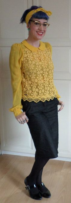 I LOVE this top!!  Rockalily Style - Sunny Yellow - Rockalily