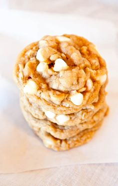 Peanut Butter Oatmeal White Chocolate Cookies, Soft, chewy, & rich. My new favorite cookie recipe.