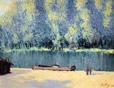 "bofransson: "" Alfred Sisley - Banks of the Loing, 1891 """