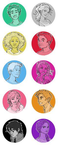 Percy, Annabeth, Hazel, Frank, Jason, Piper, Calypso, Leo, Nico, Reyna