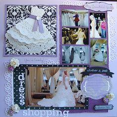 Waltzingmouse Stamps, wedding dress shopping, scrapbook, doily, wedding, doily