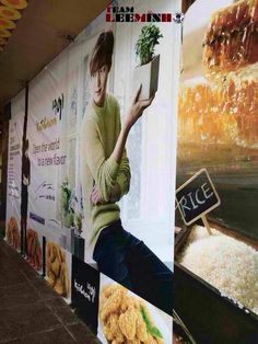 awesome Advertising banners to mark the start of the 3rd restaurant Kyochon Chiken in the Philippines
