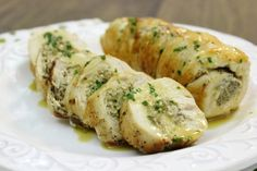 French Style Mushroom Stuffed Chicken Breasts - Olga's Flavor Factory (don't skip the sauce at the end, it makes the dish)