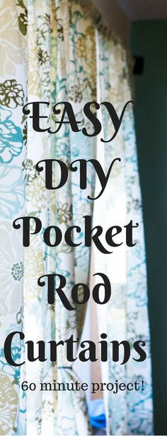 It doesn't have to be hard to make your own curtains – here is an easy DIY curtains tutorial (this is specifically for rod curtains). It can be an affordable option for updating the look of any room! Source by clarkscondensed No Sew Curtains, Cheap Curtains, Drop Cloth Curtains, Burlap Curtains, Floral Curtains, How To Make Curtains, Rod Pocket Curtains, Colorful Curtains, Purple Curtains