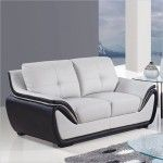 Global Furniture - 3250 Bonded Leather Loveseat in Grey/Black - U3250-R6U6-L  SPECIAL PRICE: $619.00