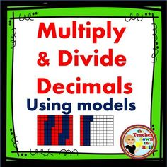 This worksheet is for independent practice of multiplying and dividing decimals.Decimals times decimalsDecimals times whole numbersWhole numbers divided by decimalsDecimals divided by decimalsDecimals divided by whole numbersStudents will complete the equations to solve a riddle!*This worksheet is part of a 6 page set (Multiply and Divide Decimals w/ and w/o Models)**You may also like:Add and Subtract Decimals Task Cards w/ QR CodesMultiply and Divide Decimals Task Cards w/ QR CodesMultiply…
