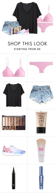 """""""Day 3: Beach Day/ Changing Houses"""" by laurenmf ❤ liked on Polyvore featuring J.Crew, R13, NARS Cosmetics, NIKE, Maybelline, Benefit, Tiffany & Co. and vbkobxcontest2k16"""