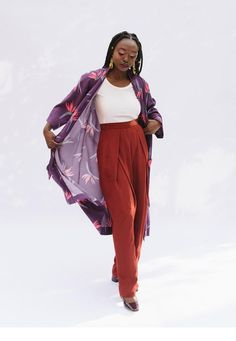 Looking for trouser or pants sewing pattern? The Esther pants from Victory Patterns is perfect, read sewing pattern reviews here!