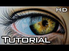 Tutorial Cmo dibujar ojos con lpices de colores  YouTube