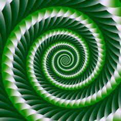 'Green Spiral' fractal art by Mariella Everling Cool Optical Illusions, Art Optical, Op Art, Fibonacci Spiral, Spiral Pattern, Fractal Art, Sacred Geometry, Beautiful Patterns, Amazing Art