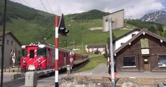 Bahnübergang Gotthardstrasse, Andermatt - Zug,trainfart,train