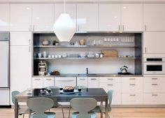 Boxed in - an example of what I don't want - single wall kitchen design ideas