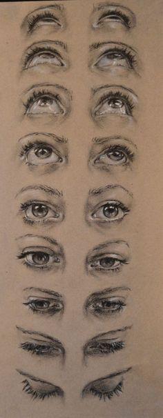 on RISD Portfolios eye face perspective looking up looking down - Highschool Misc. on RISD Portfolios eye face perspective looking up looking down - Drawing Eyes, Drawing Sketches, Pencil Drawings, Painting & Drawing, Sketches Of Eyes, Charcoal Drawings, Drawings Of Eyes, Realistic Drawings, Sketch Of An Eye