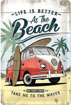 Vintage Surfing, Surf Vintage, Retro Vintage, Retro Surf, Design Vintage, Retro Kunst, Bus Vw, Poster Retro, Nostalgic Art