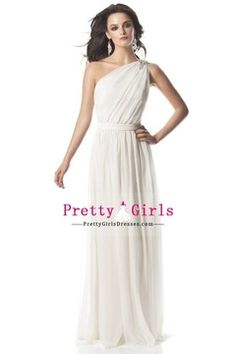Attractive A-Line One Shoudler Floor Length Chiffon Prom Dresses USD 136.49 PGDP1H5HKKY - PrettyGirlsDresses.com