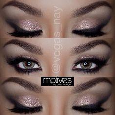 vegas_nay- soft smoky eye with glitter