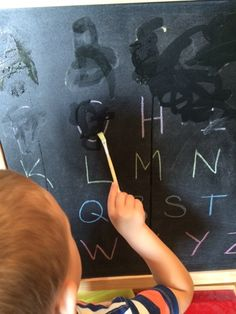 Marissa's Mommy Moments: Chalk and Water Alphabet