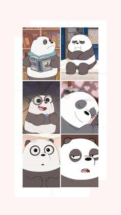 Cute Panda Wallpaper, Cartoon Wallpaper Iphone, Cute Patterns Wallpaper, Cute Disney Wallpaper, We Bare Bears Wallpapers, Panda Wallpapers, Cute Cartoon Wallpapers, Goth Wallpaper, Bear Wallpaper