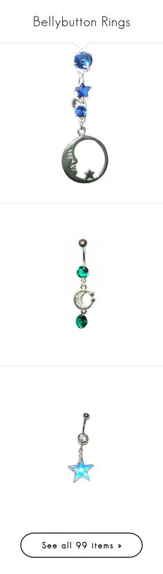 """Bellybutton Rings"" by katrenakearns ❤ liked on Polyvore featuring jewelry, belly rings, belly piercing, belly ring jewelry, belly button rings jewelry, steel jewelry, piercings, belly button rings, bellybutton and metal jewelry"