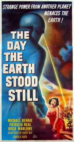 The Day the Earth Stood Still (1951) starring Michael Rennie, Patricia Neal & Hugh Marlowe. Please don't menace me! I put on my best party dress just for you, Klaatu!